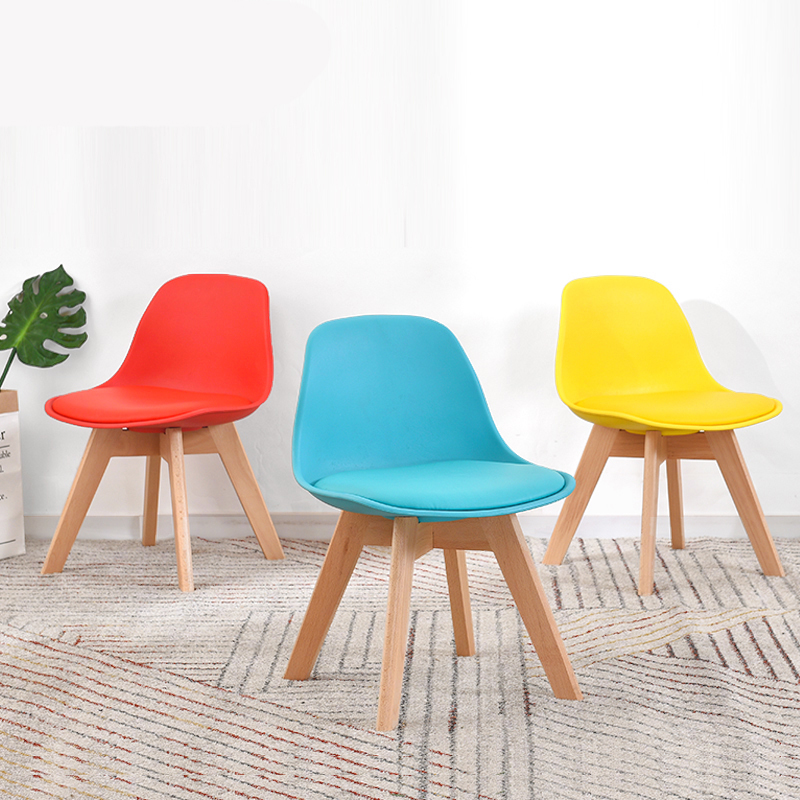 Building Block Tribe Solid Wood Stool Home Bench Fashion Shoes Bench Creative Low Stool Children Plastic Backrest Chair