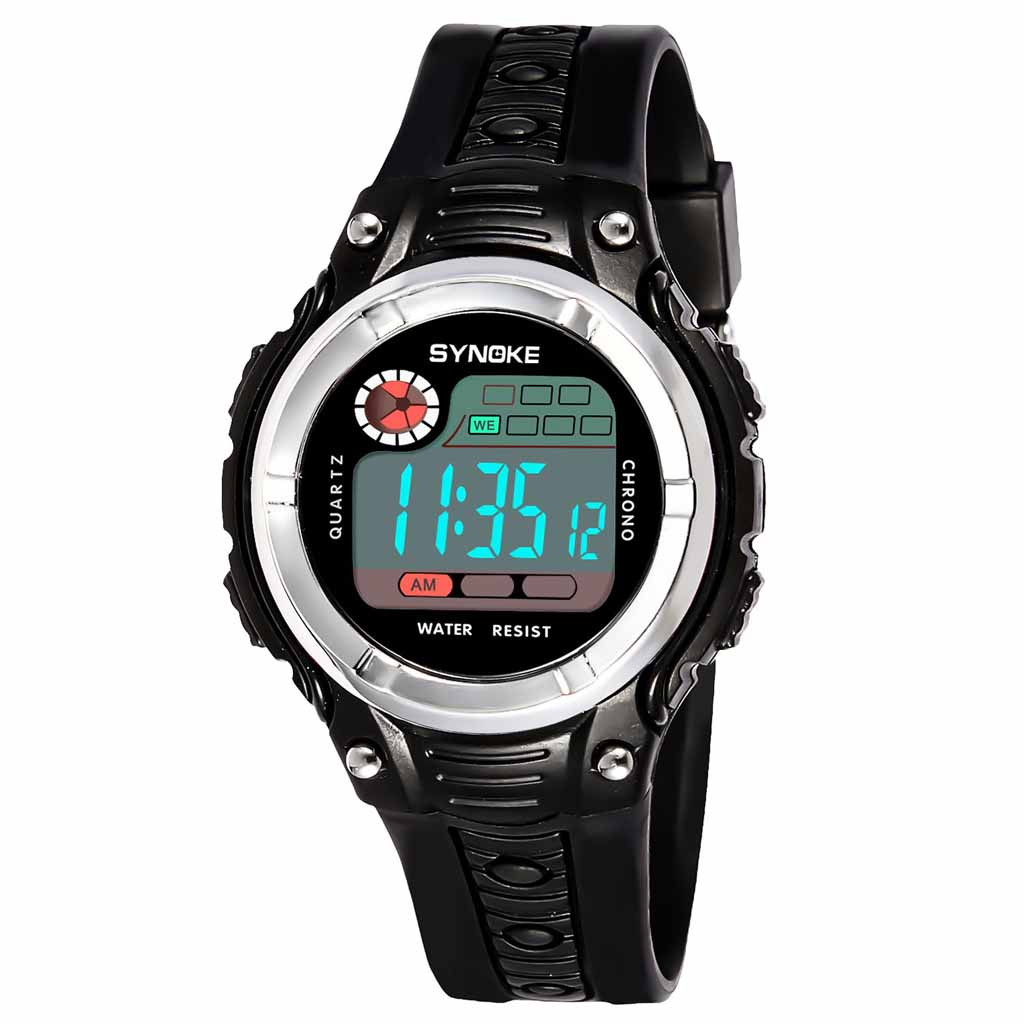 DUOBLA Childrens Watches For Boys And Girls Two-color Large Screen Student Children's Sports Waterproof Electronic Watches Kids