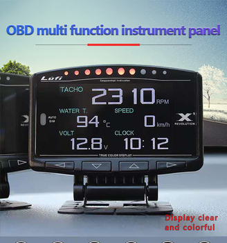 Lufi X1 gauge Automobile SMART OBD 2 auto meter speedometer Mini lufi X1 digital Oil pressure turbine Car gauge OBD 2 monitor image