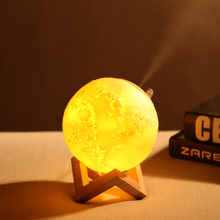 880ML Air Humidifier 3D Moon Lamp Aroma Essential Oil Diffuser USB Ultrasonic Night Light Cool Mist Maker for Home