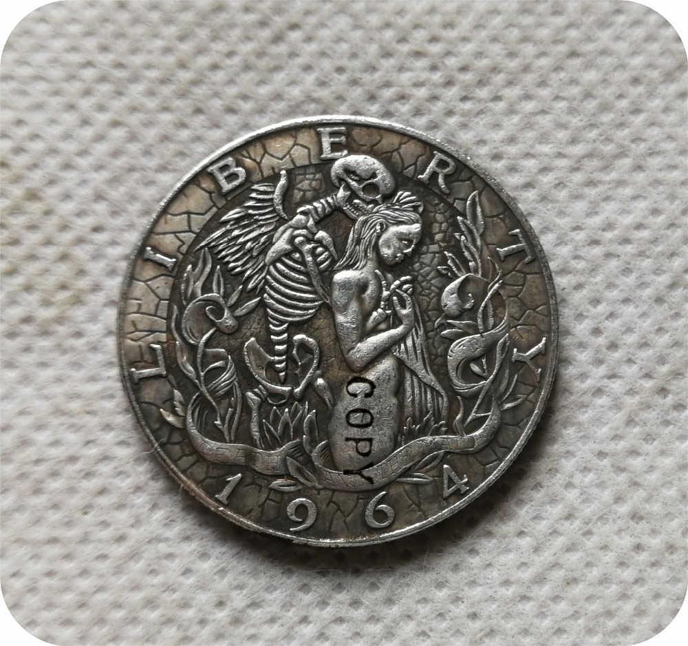 Hobo Nikkel Coin 1964-D Kennedy Half Dollar copy munten herdenkingsmunten-replica munten collectibles