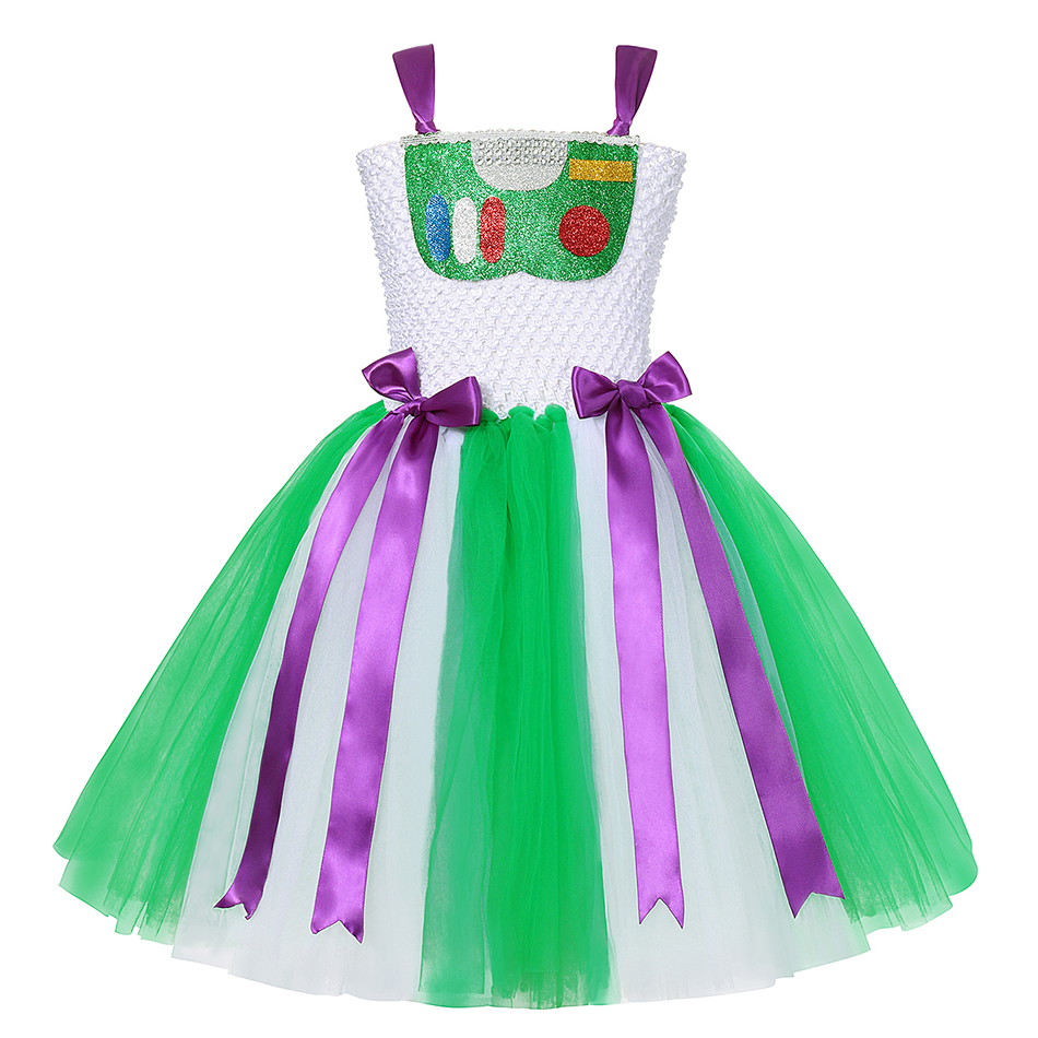 Girls Toy Story 4 Forky Cosplay Dress Woody Jessie Makeup Tutu Baby Girl Cartoon Role Playing Halloween Buzz Lightyear Costumes 2