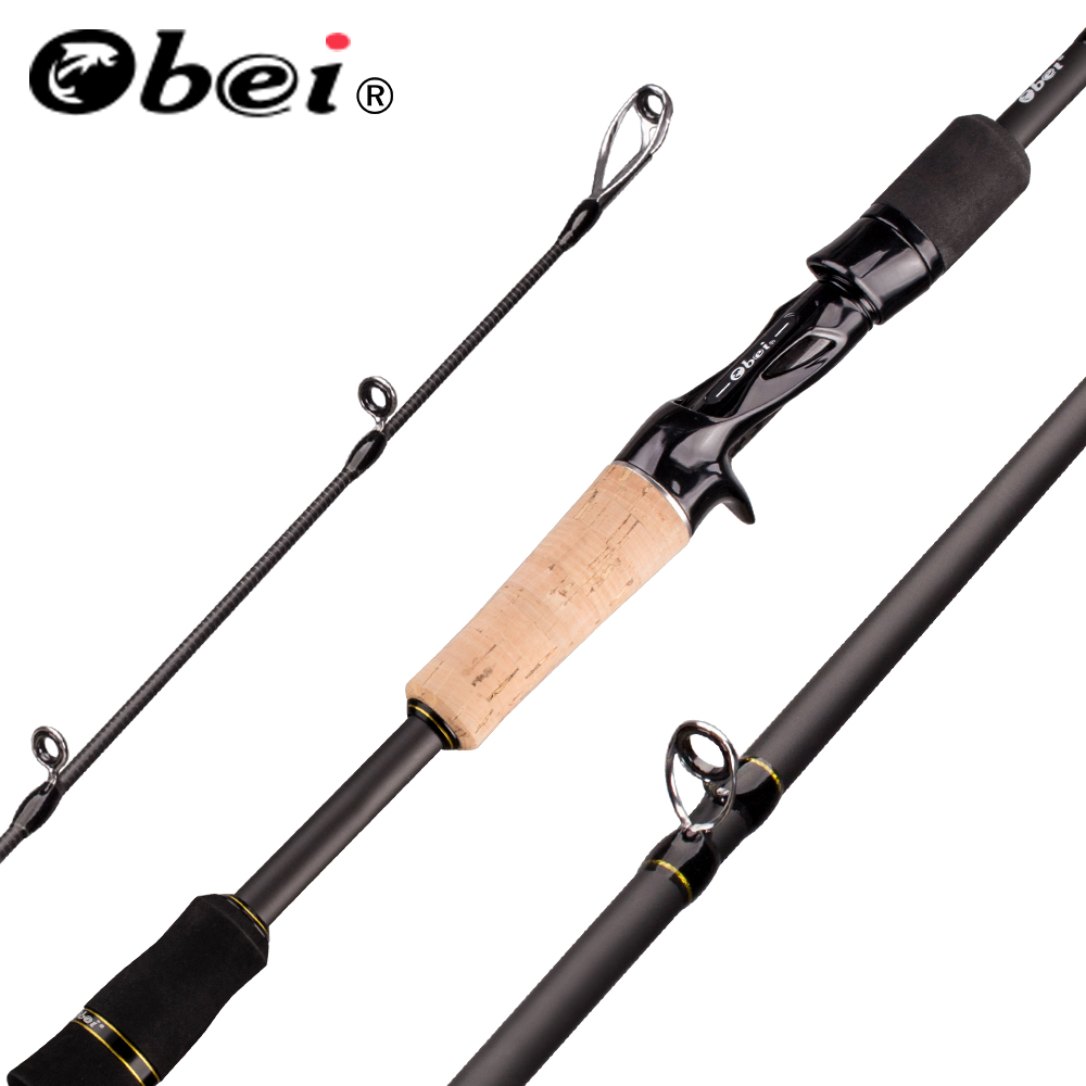 Obei elf 1.68 2.1 2.4 fundição fiação vara de pesca viagens vara de pesca barco rua isca duas dicas 5-50g m/mh rápida vara de pesca