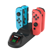 5 in 1 Portable Charger Stand for Nintend Switch Mini Controller Charging Dock Station Holder for Joy Con with LED Indicators