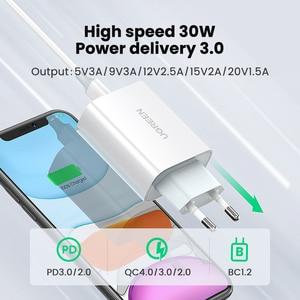 Image 2 - UGREEN 30W PD ładowarka dla iPhone 12 X Xs 8 Macbook USB typ C szybka ładowarka telefon QC3.0 USB C szybkie ładowanie 4.0 3.0 QC PD ładowarka