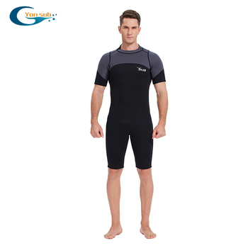 YONSUB 3MM Neoprene Wetsuit Men Scuba Diving Suit One-piece and Close Body Scuba Dive Surfing Swimsuit Short Sleeve Triathlon sbart 3mm neoprene scuba diving surfing wetsuit men warm full body spearfishing wet suit for triathlon kitesurfing jumpsuit l
