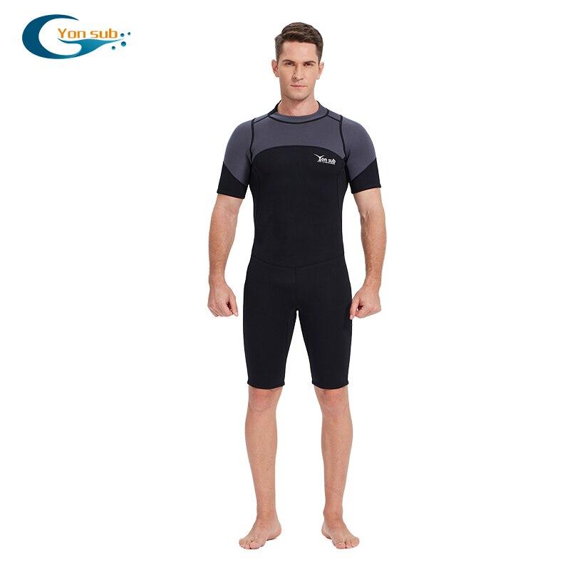 YONSUB 3MM néoprène combinaison hommes plongée sous-marine combinaison une pièce et près du corps plongée sous-marine surf maillot de bain manches courtes Triathlon