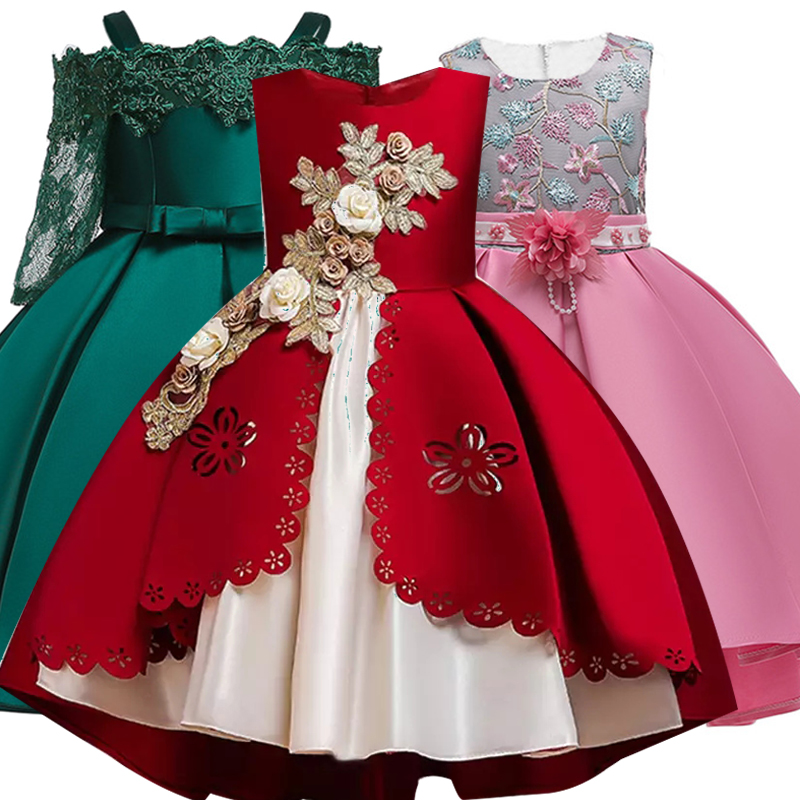 Girls Dress Christmas Kids Dresses For Girls Elegant Princess Dress For Girl Wedding Party Gown Children Clothing 3 6 8 10 Years