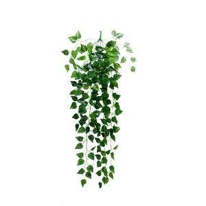 Image 5 - 1Pcs מלאכותי מזויף תליית גפן צמח עלים זר בית גן קיר קישוט ירוק May23