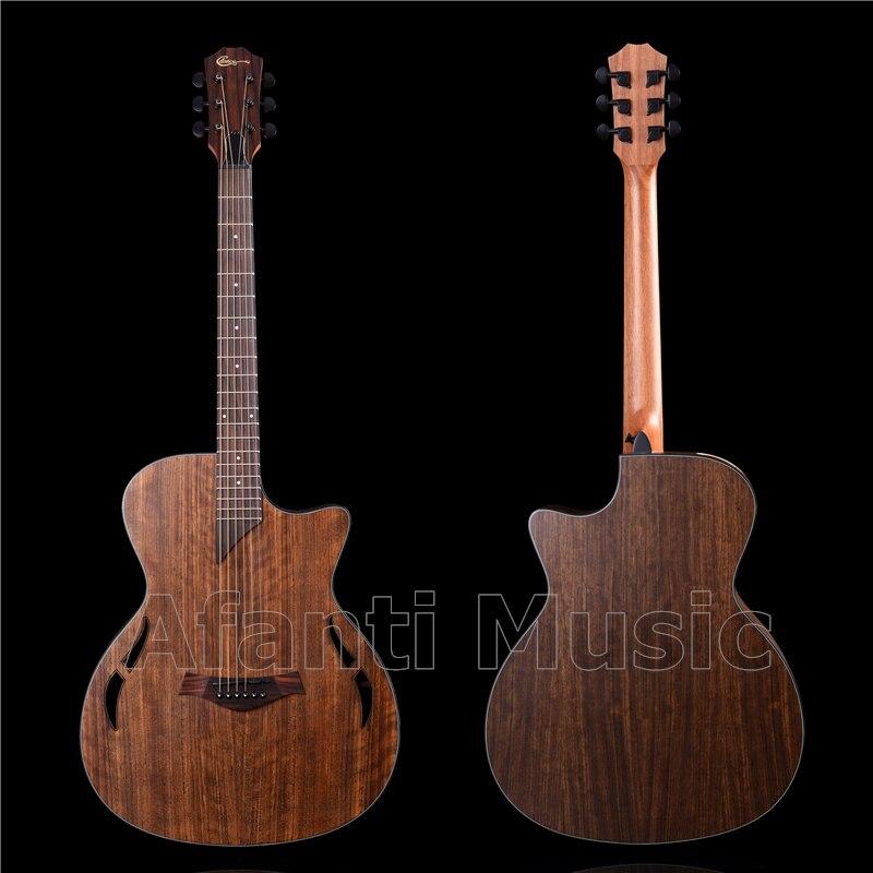40 polegadas acústico/nogueira costas e lados/guitarra acústica afanti (AWK-023S)