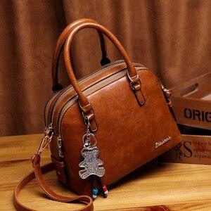 Image 1 - Leather Tote Bags For Women Handbags 2019 Luxury Designer Shoulder Crossbody Ladies Hand Bag Woman Handtas Torebki Damskie AB21