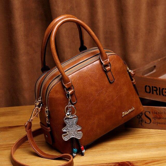 Leather Tote Bags For Women Handbags 2019 Luxury Designer Shoulder Crossbody Ladies Hand Bag Woman Handtas Torebki Damskie AB21