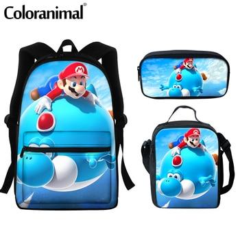Coloranimal 2020 Japanese Anime Mario Design School Bags For Teenger Girls Boys Casual Backpacks Large Scool Bag Men Satchel 9