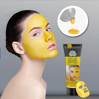 24K Gold Collagen Facial Mask High Moisture Anti Aging Wrinkle Remove Blackhead Acne Remove Peel Off Mask Skin Care TSLM2