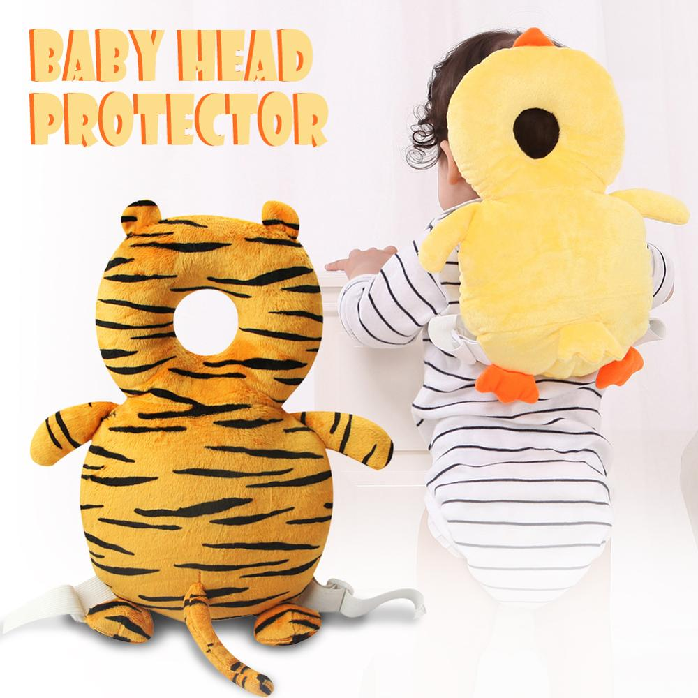 Baby Anti-fall Pillow Back Head Protector Toddler Safety Cute Cartoon Walk Learning To Walk Protection For Kids Infant Newborn
