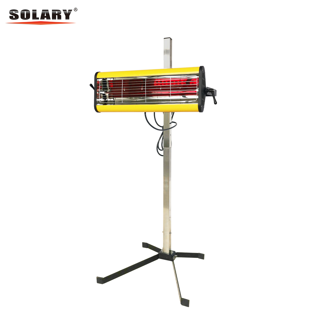 SOLARY Infrared Paint Curing Lamp Heating Light Short Wave Infrared Heater Car Body Paint Car Bodywork Repair Paint Dryer/Stand