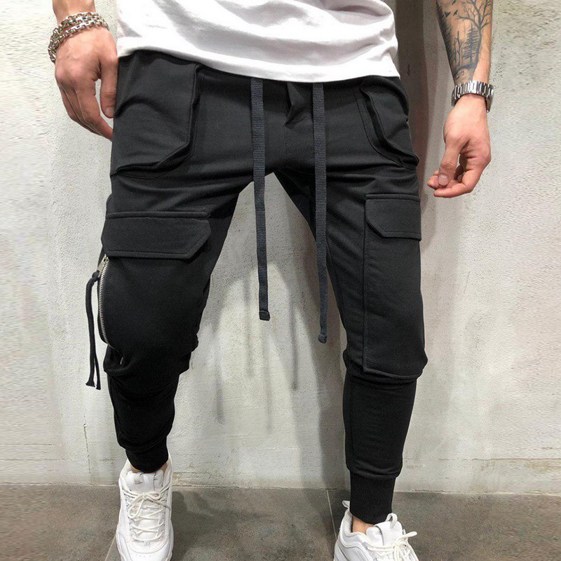 Mens Casual Pants Spring Side Taping Joggers Sweatpants Patchwork Drawstring Athletic Trouser Pants