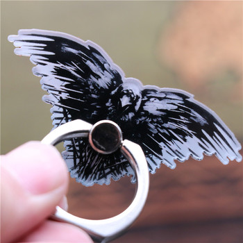 Three Eyed Crow Badge Cosplay Accessories Mobile Phone Partner Safe Ring Holder Stent Kickstand Fans Gift image