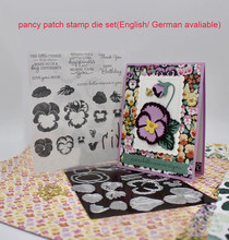 PANSY PATCH Metal Cutting Dies and Stamps Stencils For Scrapbooking Stencil Album Paper DIY Gift Card Decoration Embossing