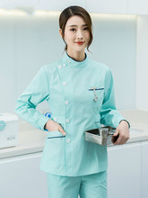 Nurse's uniform long sleeve women's short sleeve women's summer split body suit oral cavity work clothes isolation clothing