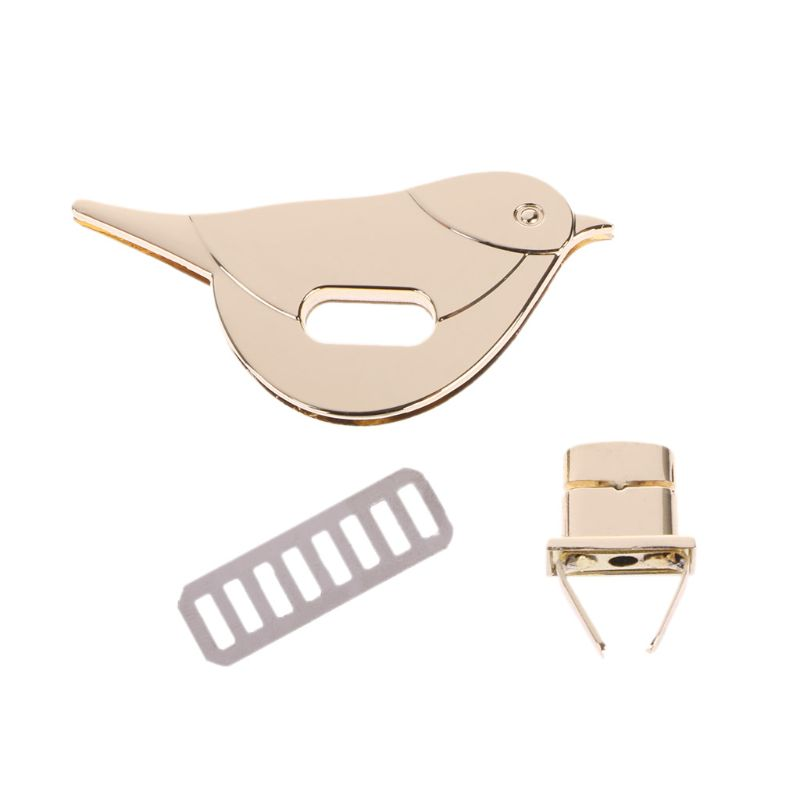 Bird Shape Clasp Turn Lock Twist Locks Metal Hardware For DIY Handbag Bag Purse