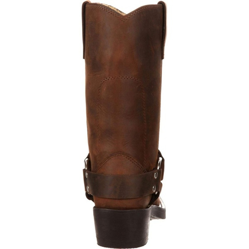 Woman Knee High Boots Combat Vintage Leather Boots Rider Horse Boot (7)