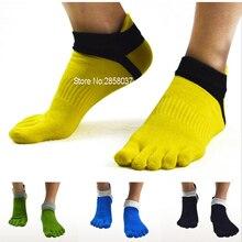 1 пара, 78% хлопок, уличные летние весенние мужские носки с носком, спортивные сетчатые носки с пятью пальцами, мужские тонкие носки, 39-44, 6 цветов
