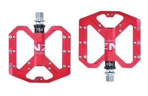 Image 4 - ENZO płaskostopie Ultralight pedały do rowerów górskich MTB stop aluminium CNC Sealed 3 łożyska antypoślizgowe pedały rowerowe części rowerowe
