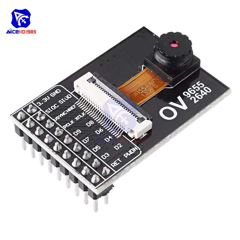 Diymore OV9655 OV2640 Camera Module CMOS 1.3 Million SXGA 1280x1024 Camera Acquisition Development Module For Arduino