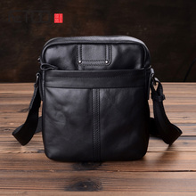 AETOO Men's leather shoulder bag, casual bag