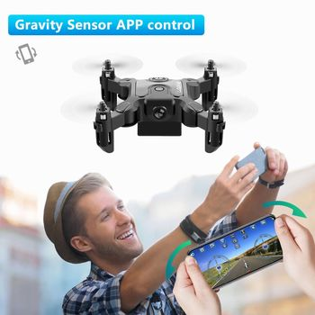 New Mini Drone V2 1080P HD Camera WiFi Fpv Air Pressure Altitude Hold Foldable Quadcopter RC Drone Kid Toy GIft 6