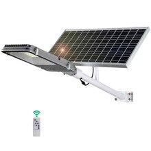200 Вт Светодиодный уличный фонарь на солнечной батарее Открытый водонепроницаемый IP67 пульт дистанционного управления радар зондирование умный светильник светодиодный светильник садовые солнечные лампы