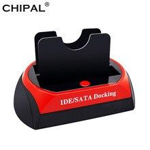 CHIPAL wszystko w jednym stacja dokująca Hdd eSATA na USB 2.0 Adapter do 2.5/3.5 dysk twardy napęd dysku HD stacja dokująca twarda obudowa