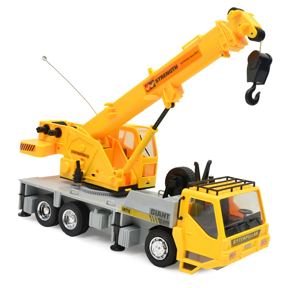 Children Gift Remote Control Crane Hobby Kid Lift Construction Engineering Car Model Machinery Tower Cable Mining Car Tower Toy