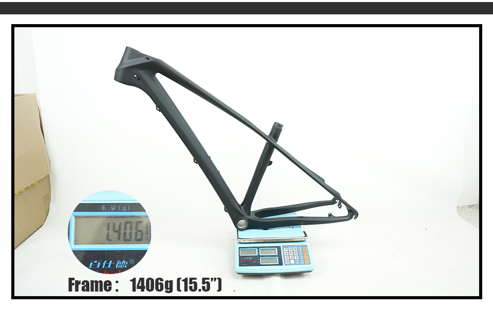 "FM-M047 27.5er 2.3inch Carbon Fiber Mountain Bicycle Frames 15//17//19/"" BB92 OEM"