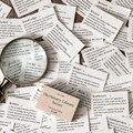Словарь библиотека фон материал бумага Скрапбукинг/Создание открыток/проект журнала DIY крафт ретро письма открытки
