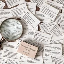 Dicionário biblioteca material de fundo papel scrapbooking/cartão de fazer/projeto de jornaling diy artesanato retro cartões de papel de escrita
