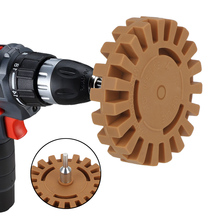 """Polishing Wheel Decal Remover 1/4"""" Shank Rubber Eraser Whee For Car Glue Stickers And Decals Auto Repair Paint Tool"""