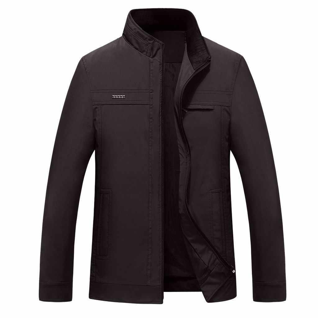 Kış erkek bombacı ceket rahat ceket erkekler Streetwear kendini yetiştirme Slim Fit Pilot erkek ceket ve mont casaco masculino