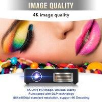 Mini Projector C9 Plus 2GB 16GB RK3328 Android 7.1 LED DLP Projector 150ANSI lumen 2.4G/5G Wifi 4K mini pocket projector BT4.0