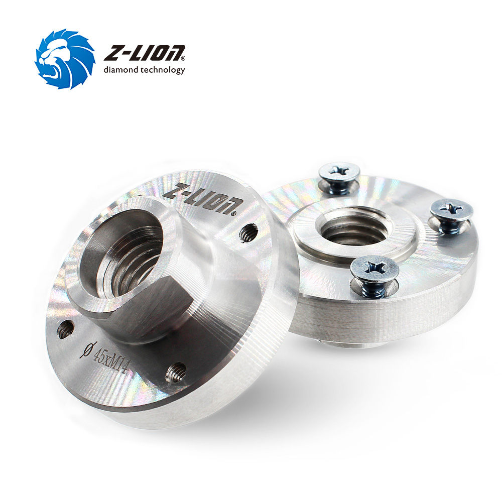 Z-LION 2 Piece Angle Grinder Flange M14 Or 5-8/11 22mm Saw Blades Support Fixed Aluminium Replacement Power Tools Accessoriies