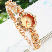 купить Fashion Women Watch Luxury Rose Gold Crystal Watches Women Ladies Watches Womens Watches horloges vrouwen montre bracelet femme дешево
