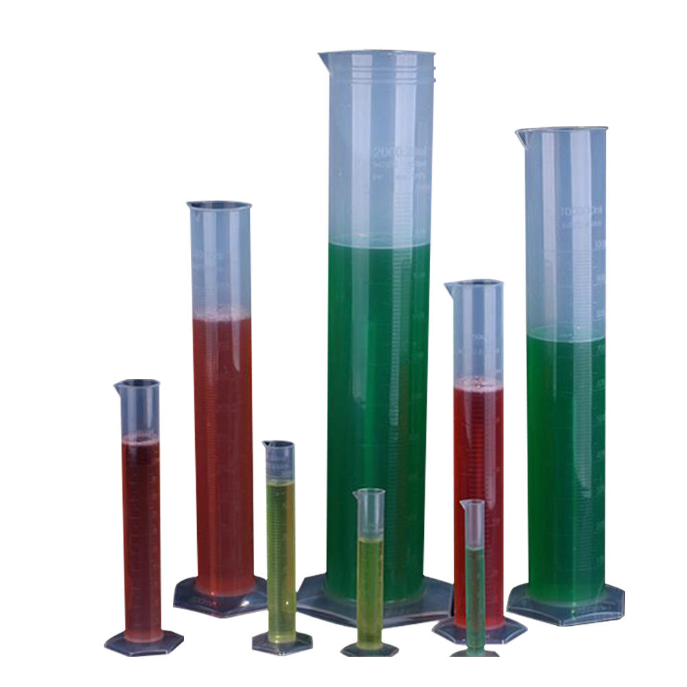 Affordable Chemistry Set Measuring Plastic Measuring Cylinder Graduated Cylinders For Lab Supplies Laboratory Tools Set Of 4