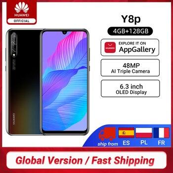 Перейти на Алиэкспресс и купить Новая глобальная версия Huawei Y8p смартфон 4 Гб 128 6,3 ''OLED дисплей 48MP AI тройной камеры в-дисплей отпечатков пальцев 4000 мАч