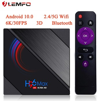 2020 H96 MAX H616 Android 10 TV Box 6K 3D Youtube Media Player 2.4G/5G Wifi 4G 64G Quad Core Smart Android TV Box Lemfo TV Box