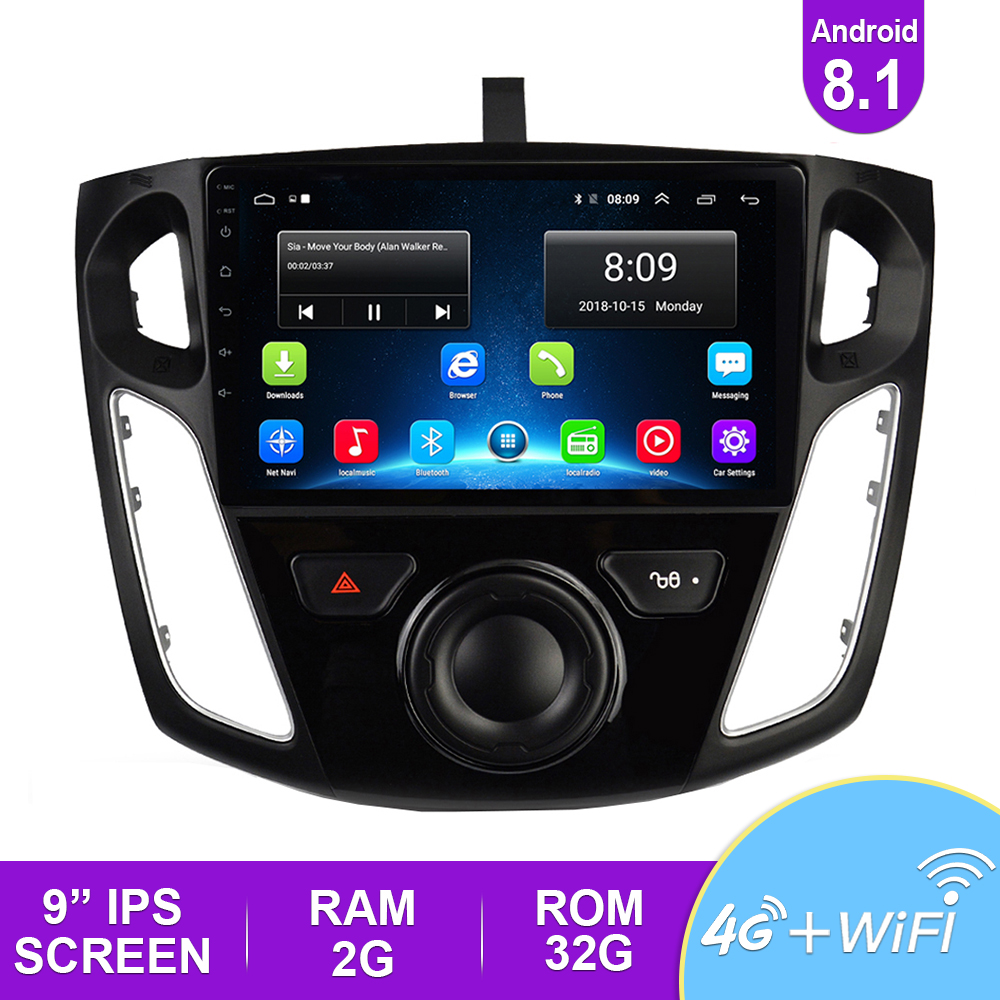 Android 8.1 Head Unit 4G Dash Car Radio Multimedia Video Player <font><b>Navigation</b></font> GPS For <font><b>Ford</b></font> <font><b>Focus</b></font> 3 Mk 3 2010 2017 Car DVD Player image
