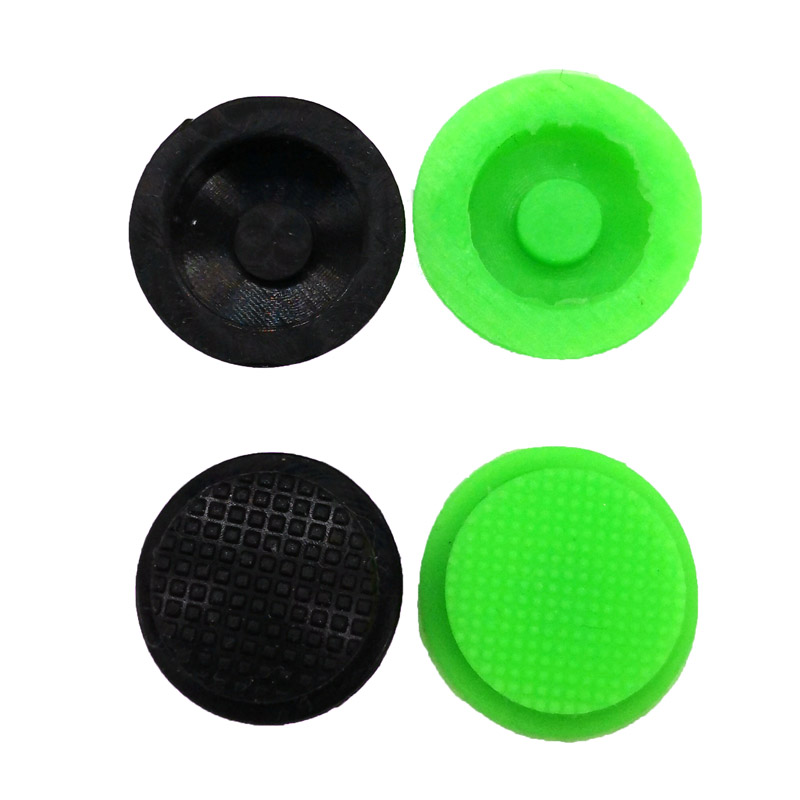 2PCS New C8 Flashlight Switch Caps Black/ Green Waterproof Rubber Pad Button Cap Light 17.6mm Torches Switch Hat Accessories