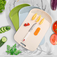 newNew non-slip cutting board, cut fruit, chopping board, plastic kitchen utensils multi-function filter cutting cutting board kitchen plastic cutting board non slip frosted kitchen cutting board vegetable meat tools kitchen accessories chopping board