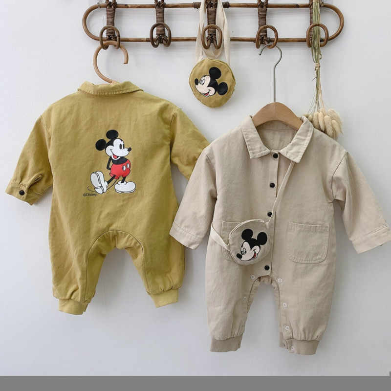 Baby Cartoon Long Sleeve Workwear Clothes Children's Jumpsuits Boys Autumn Onesies Baby Baby Girl Clothes Newborn Jumpsuits