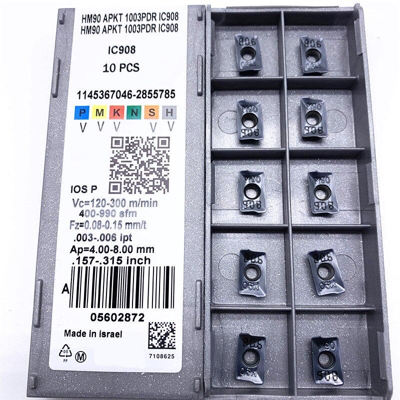 HM90 APKT1003 PDR IC908 фреза твердосплавный инструмент для обработки деталей вращения вставки для ЧПУ APKT 1003 фреза APKT1003PDER токарный станок